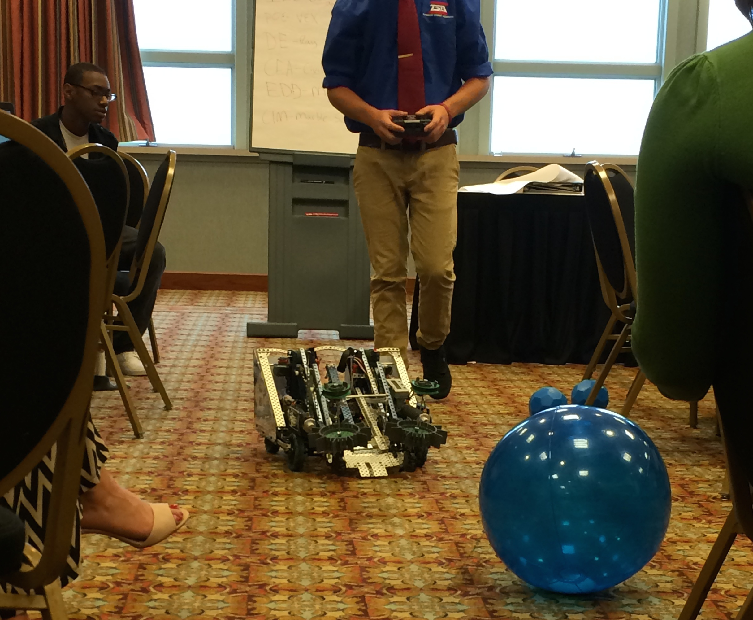 Hardin County PLTW students with robot at KASC Conference 2014