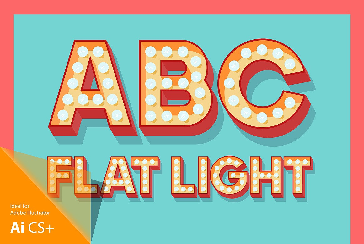Flat Lamp Typefaces images/3D-lamp-flat-red_1.jpg