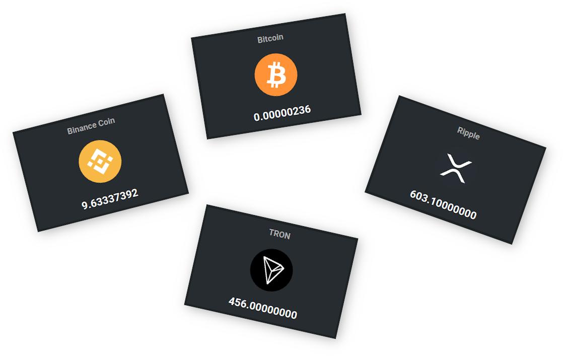 Crypto portfolio showcase