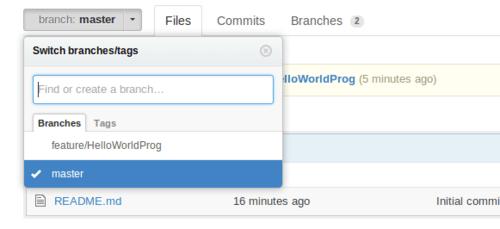 GitHub Branches Dropdown