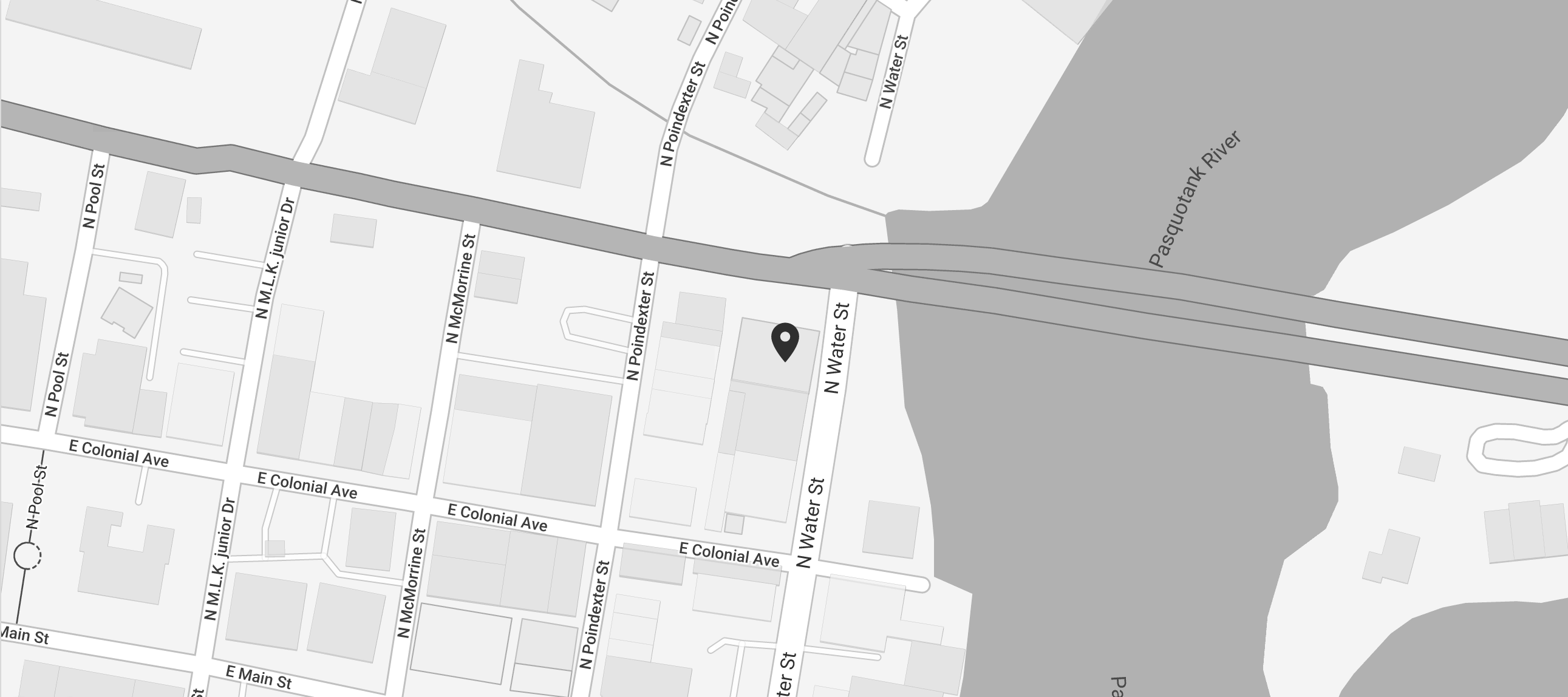 A snippet of a map to Weatherly Lofts