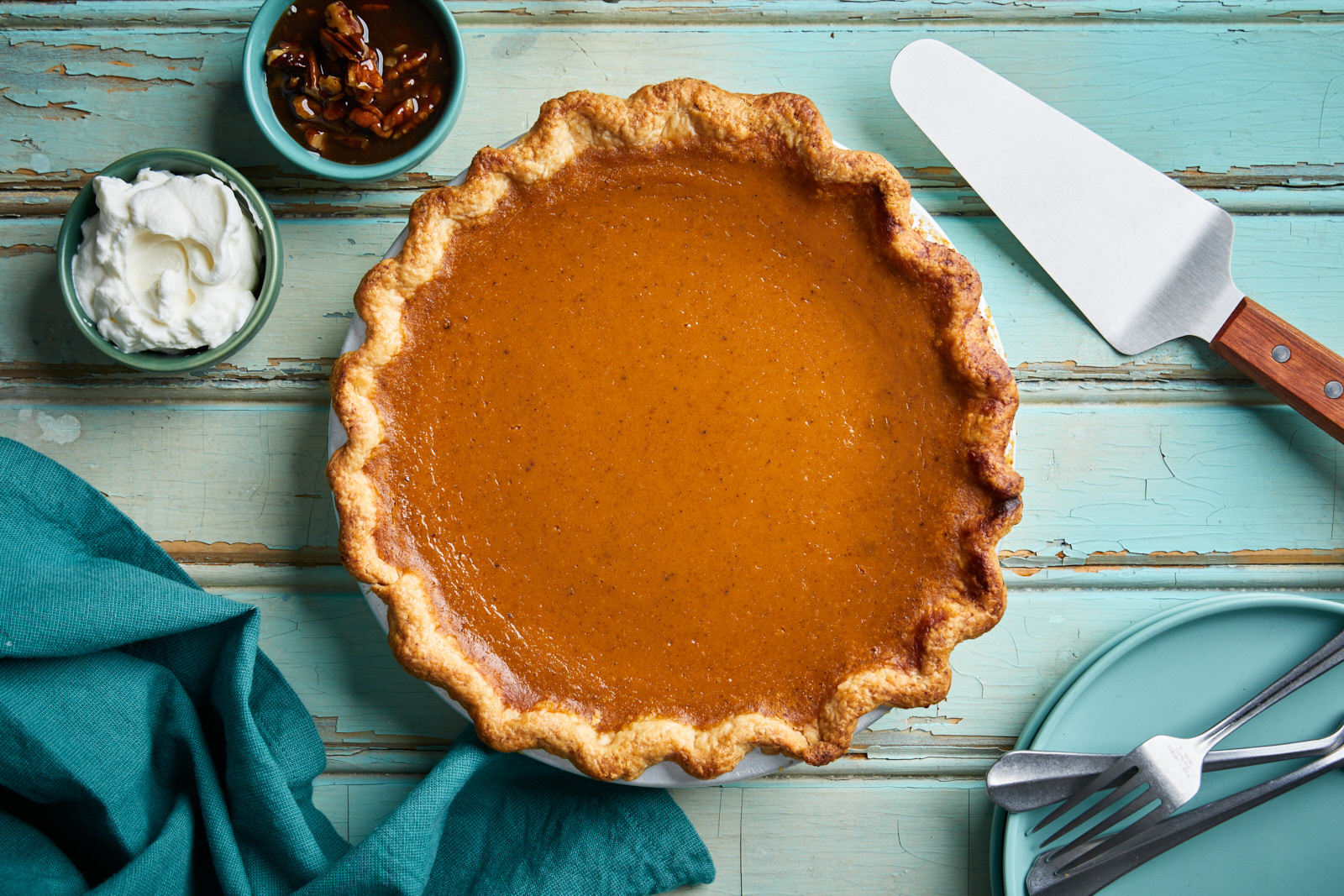 Classic Pumpkin Pie With No Shrink Pie Crust