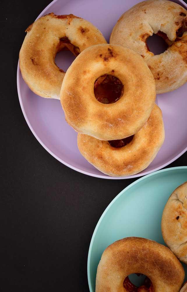 vegan pepperoni pizza donuts
