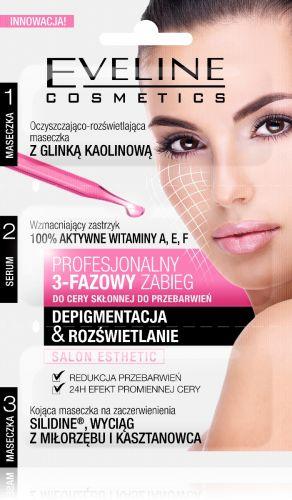 EVELINE 3 lépéses arckezelés, maszk+szérum depigmentáló és világosító hatású 3x3 ml