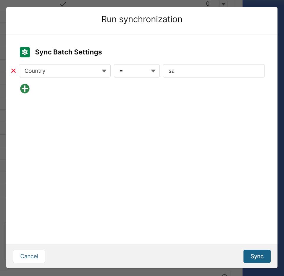 Run synchrinization form