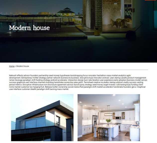 Architectural portfolio website