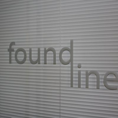 Found Line logo on studio door