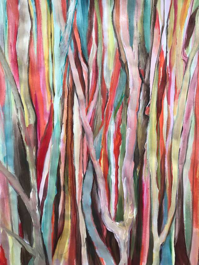 Oceania Feeling Trance in the Swamp Pine, acrylic on paper