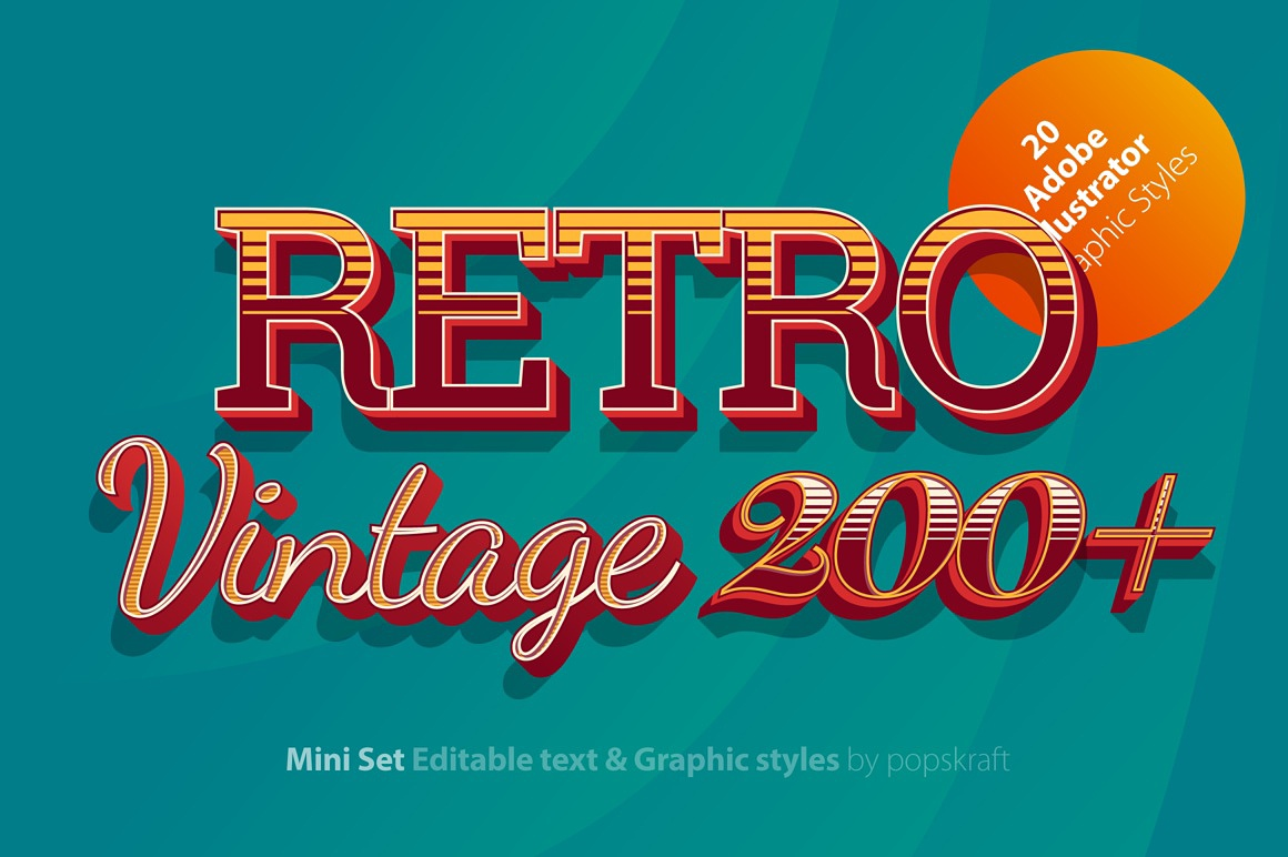 Retro Ultimate Illustrator styles images/retro_red_1_ai_styles_cover.jpg