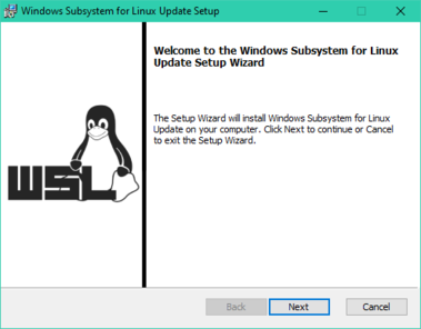Windows Subsystem for Linux Update Setup