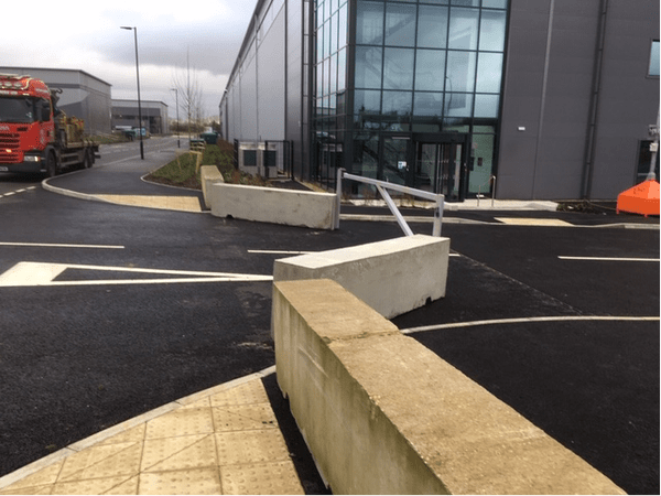 3m Concrete Blocks - Entrance Protection