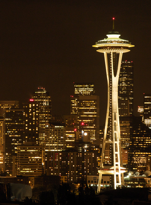 Seattle's Space Needle, taken from Queen Anne Hill