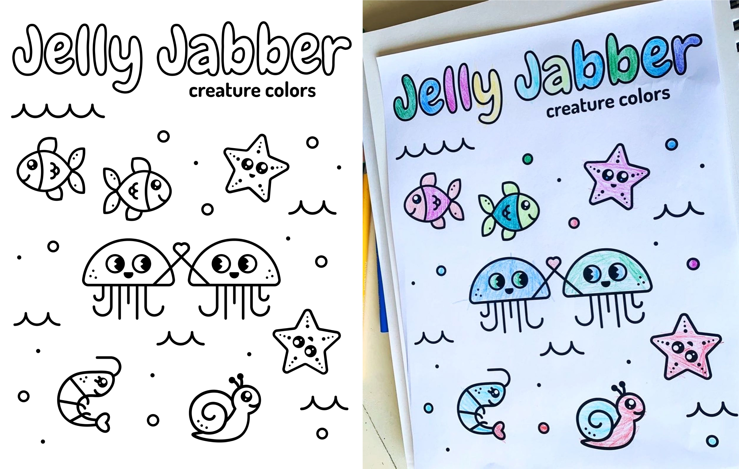 Jelly Jabber coloring sheet