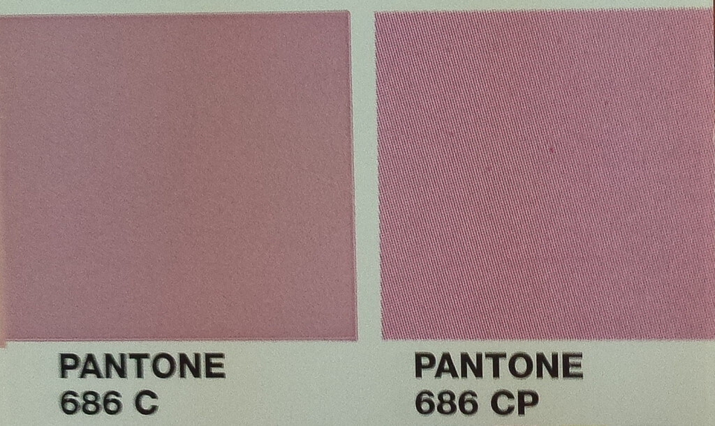 The same swatch in PMS and CMYK can come out very different due to gamut restrictions