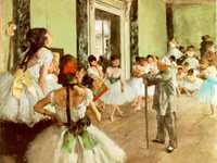 Edgar Degas loved and was given special access to the Parisian Ballet, where he painted Dancing Class