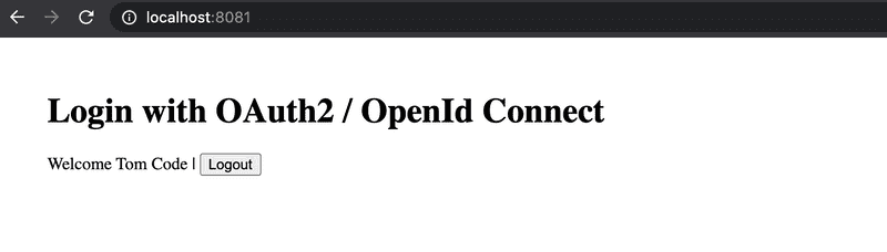 OAuth2 and OpenId Connect Login