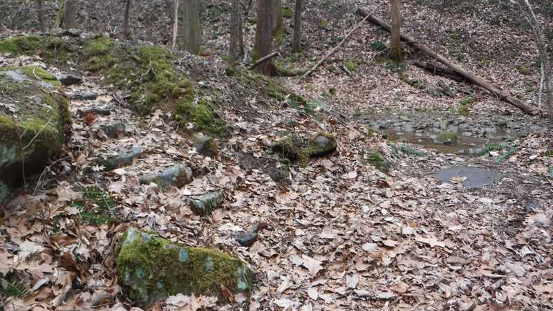 Steps near stream