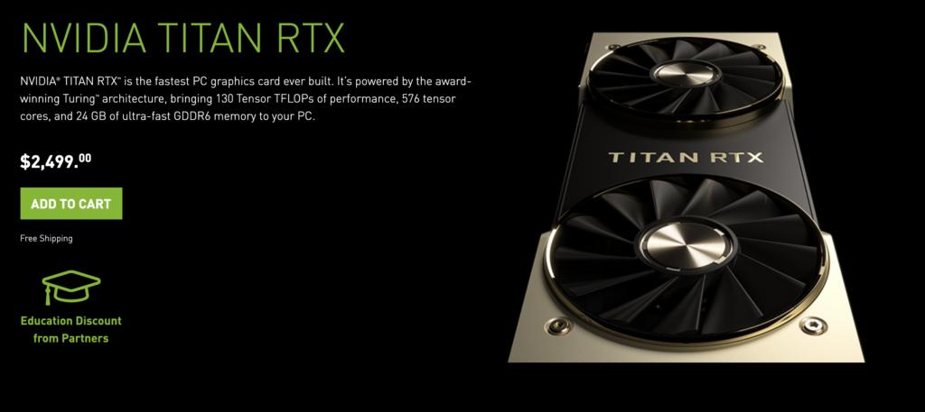 NVIDIA Titan RTX GPU