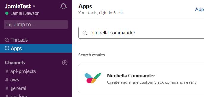 commander inside Slack to help display aws billing info in slack