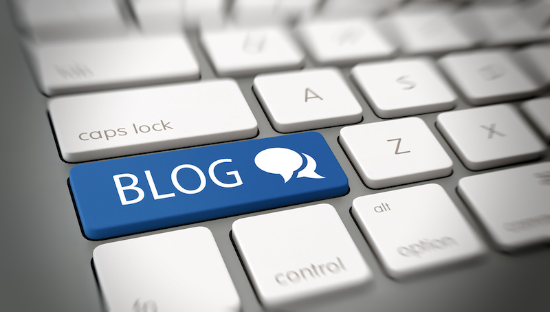 keyboard with key marked blog