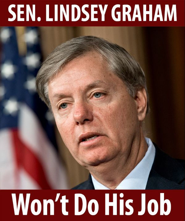 Senator Graham won't do his job!