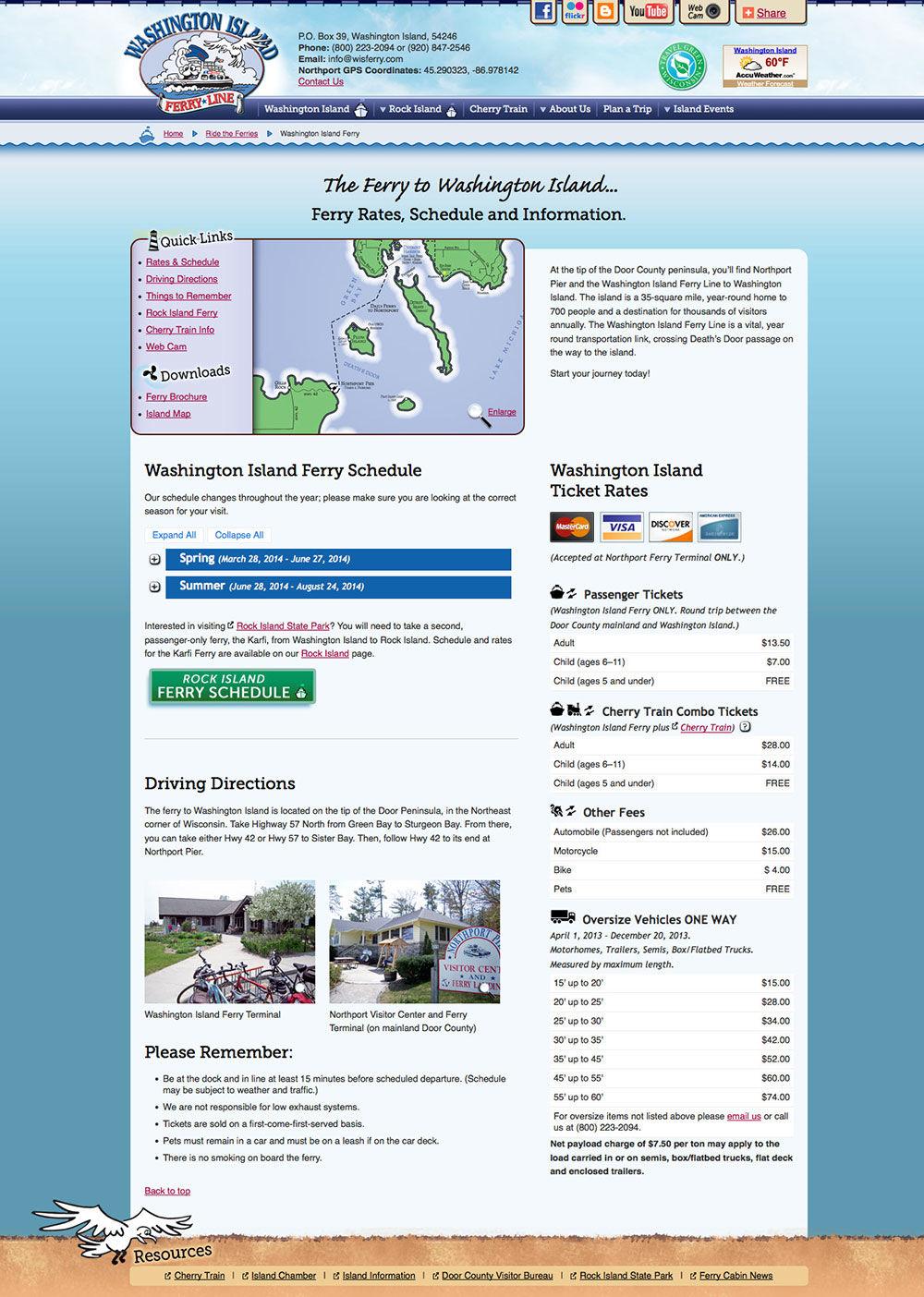 Washington Island Ferry Website 1