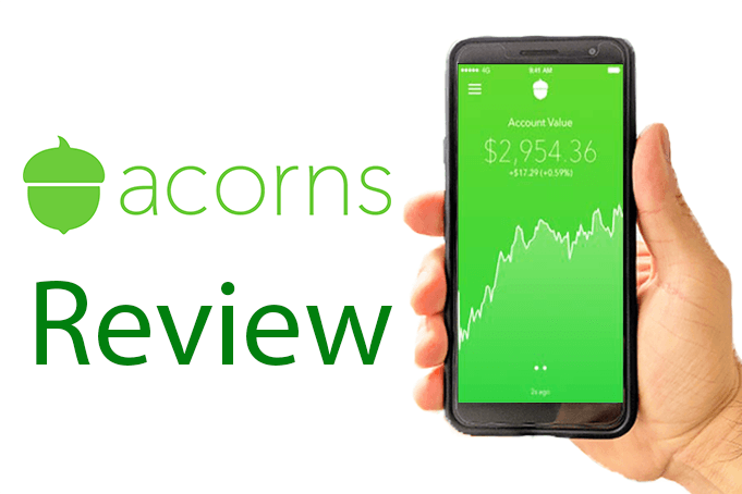 A hand holding a phone showing an investment account