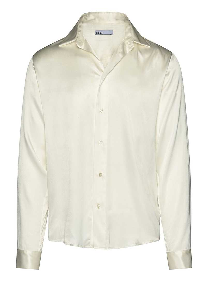 LINUS shirt in white. GmbH Spring/Summer 2021 'RITUALS OF RESISTANCE'