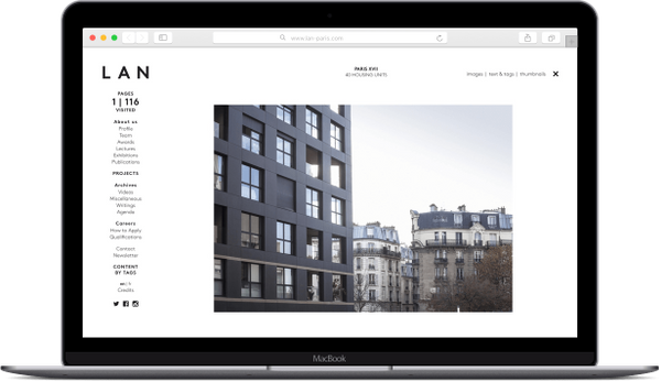 project image - LAN Architects Website