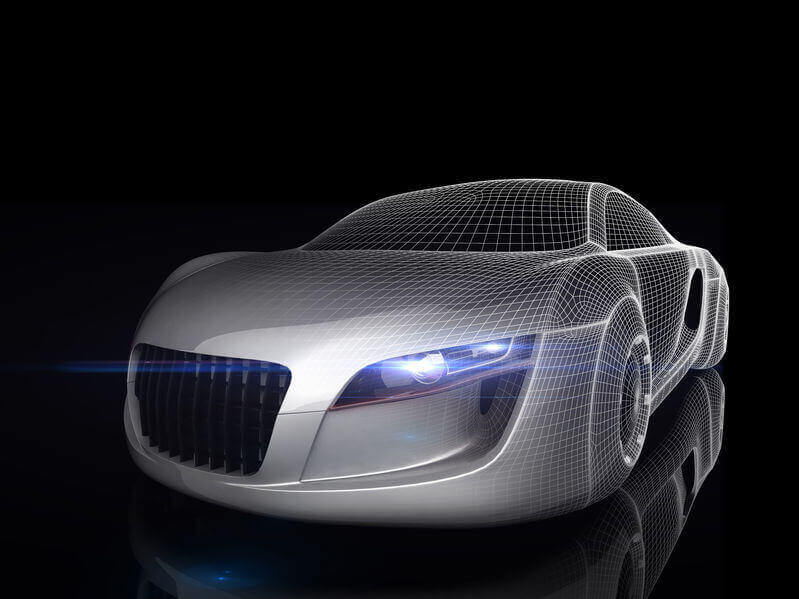 digital diagram outline of a car