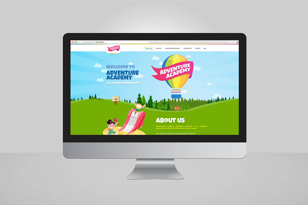 Project Adventure Academy, Website Design