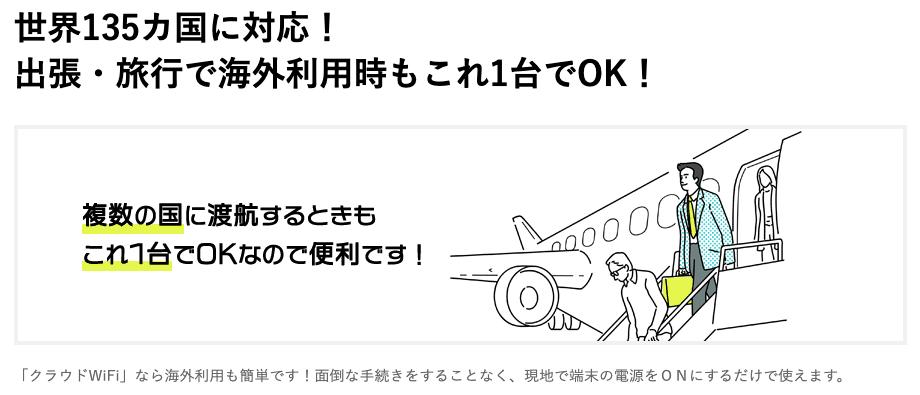 CloudWiFi海外利用
