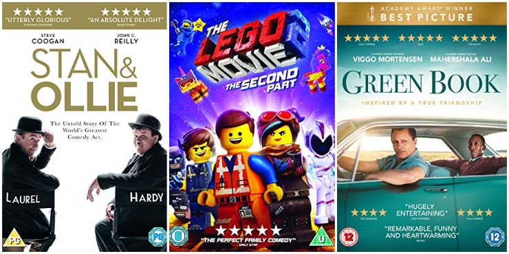 Stan & Ollie, The Lego Movie 2, Green Book