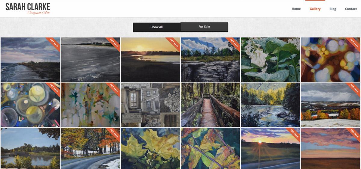 Sarah Clarke - Original artist - Portfolio website