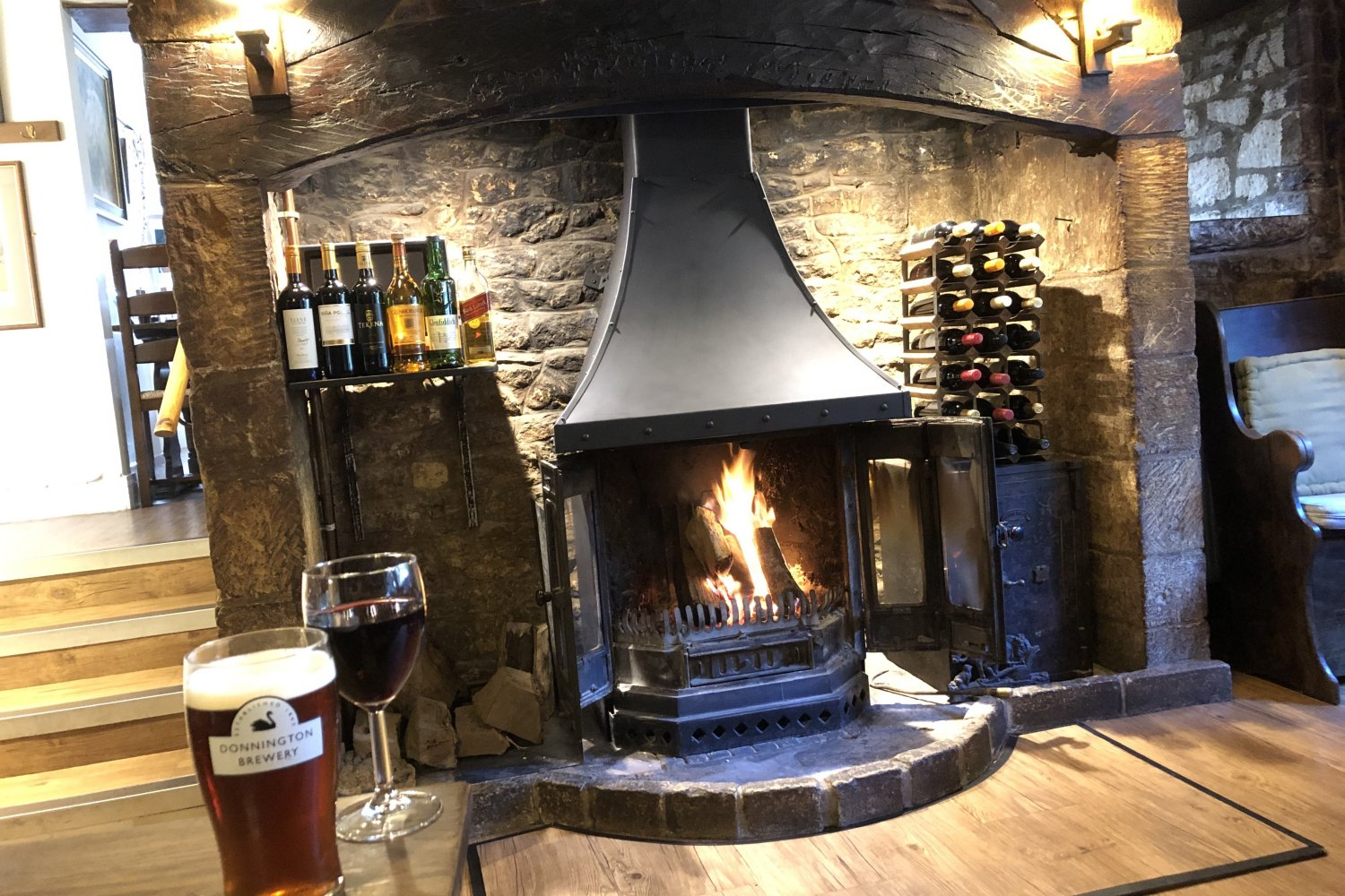 The Plough at Ford, Cotswold pub food, Sunday lunch & drink at its best