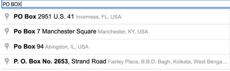 Google Address Autocomplete Location Demo