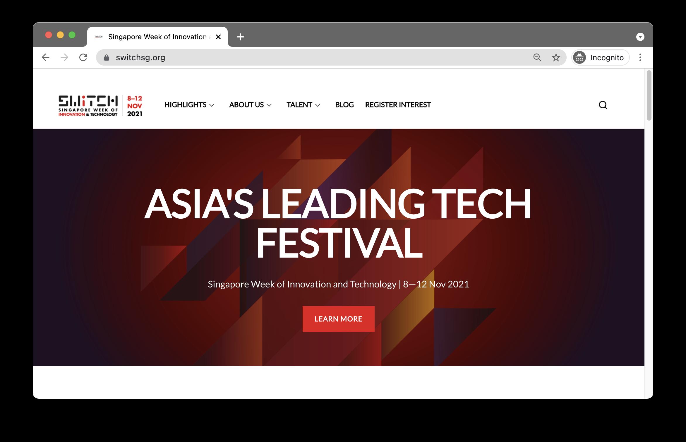 Switch SG website