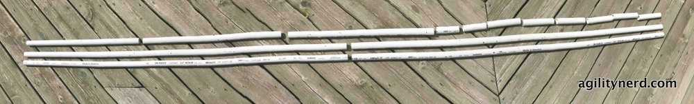 PVC pipe cuts for one gate