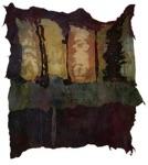 "Jolanta Tubutyte, Lithuania. ""The Last Supper"" 2010. Textile, 170x170cm"