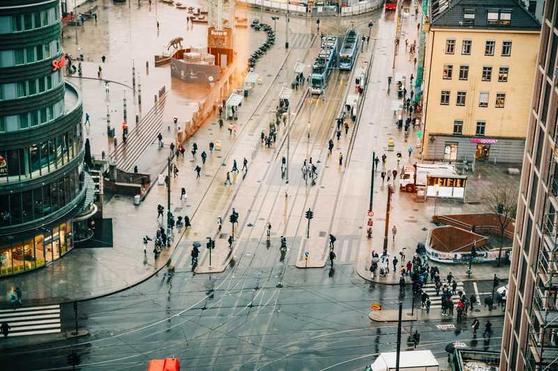 Oslo S - utsikt fra vårt kontor