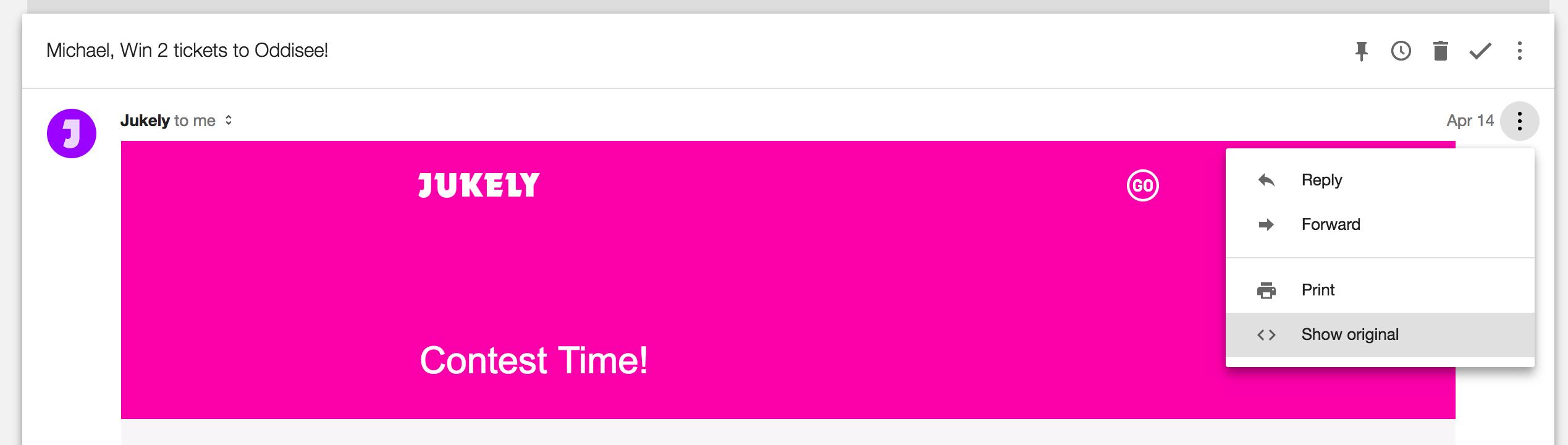Gmail Show Original Message