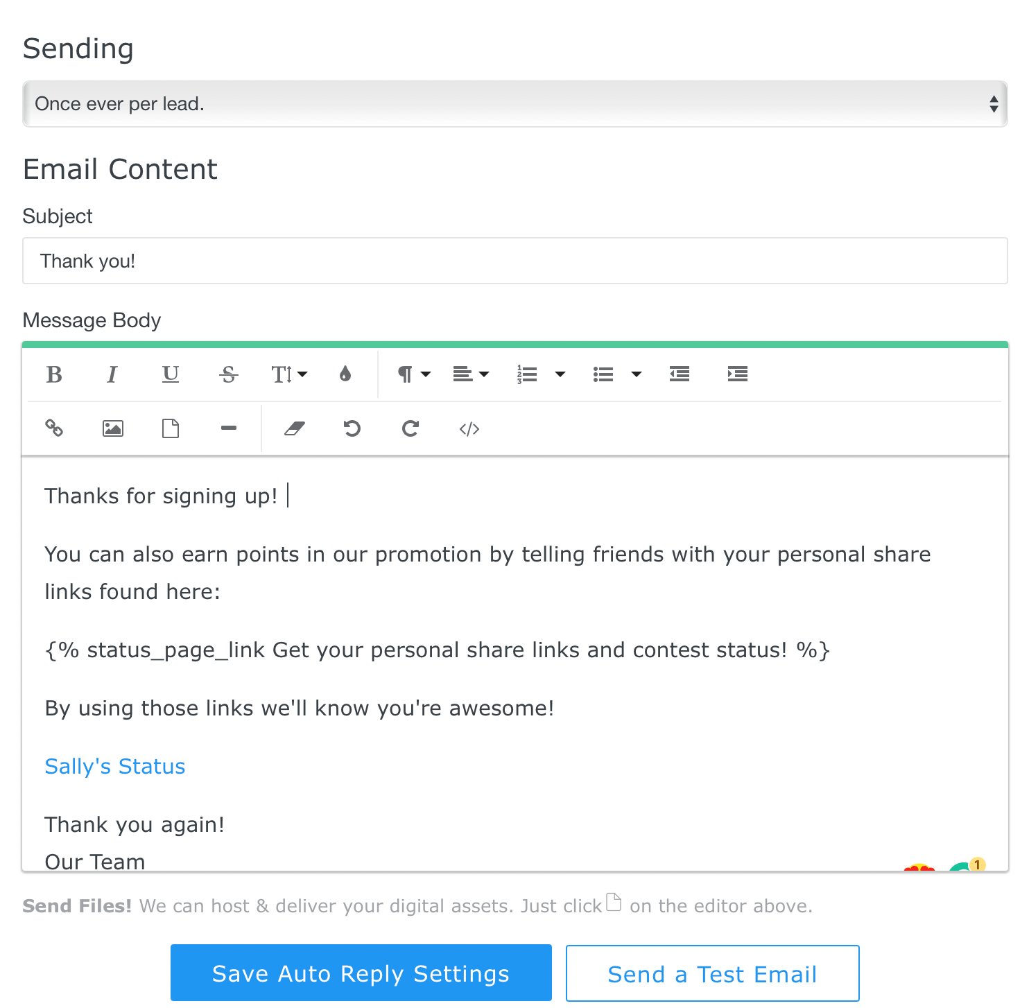 auto-reply mail