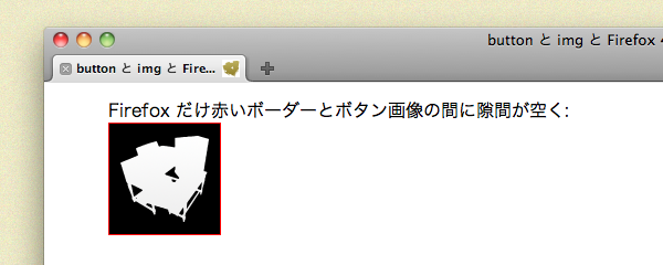 Opera も Safari と同じく、赤いボーダーと画像との間に隙間はありません。