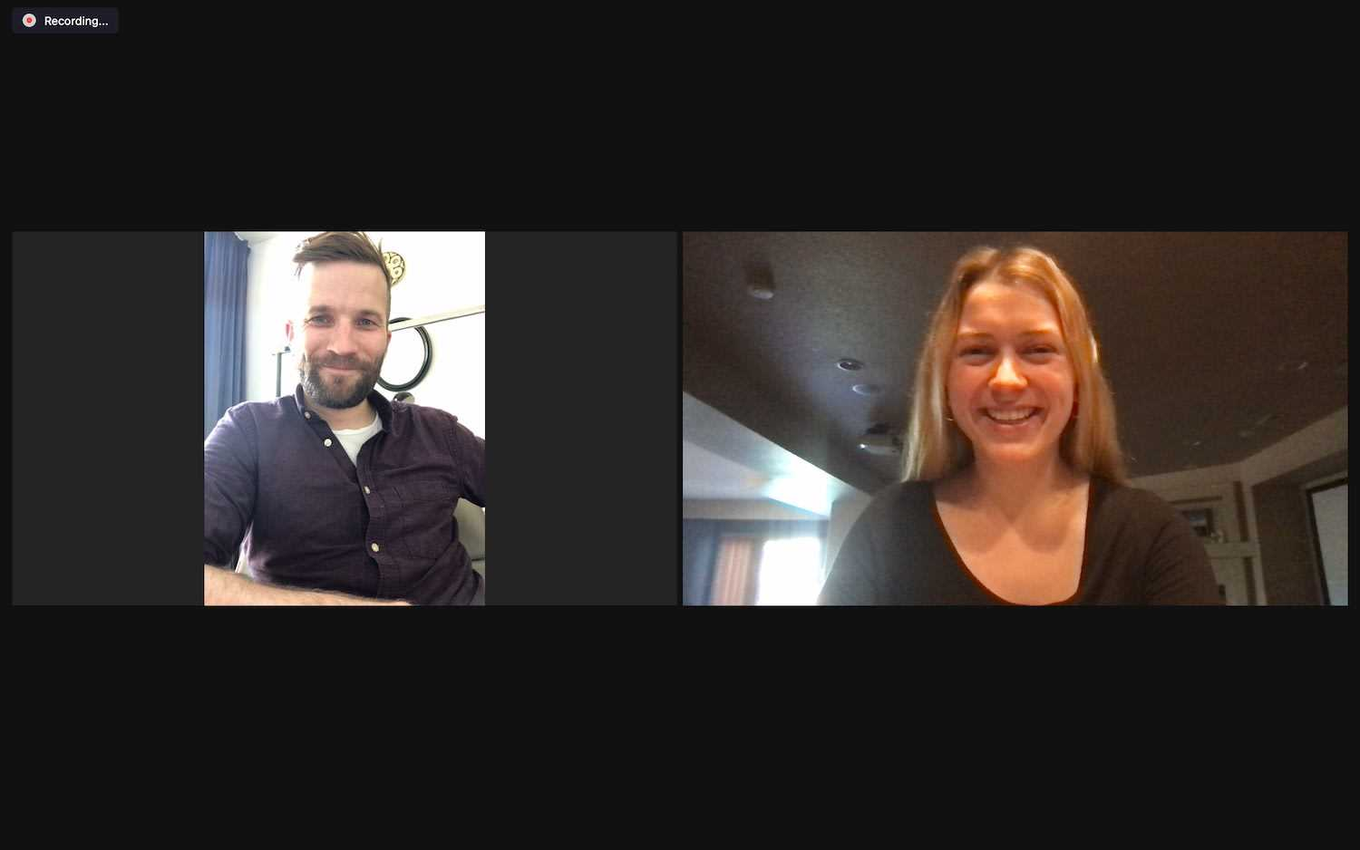 Table Sage interview with Dignita shows Kaitlin Badger with Marijn Vegter