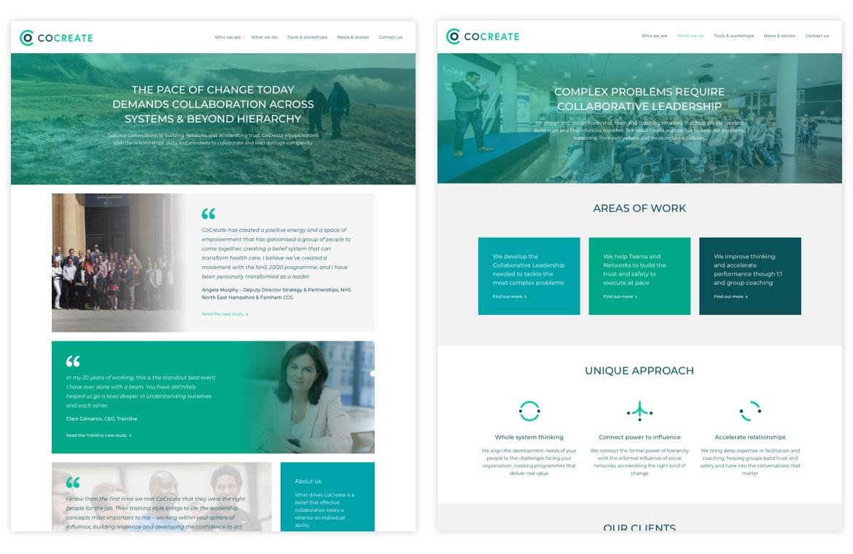 Co Create consultancy screenshot
