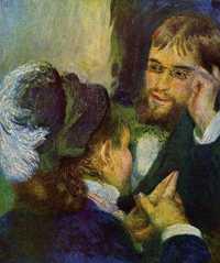 Conversation by Pierre Auguste Renoir, 1879, Nationalmuseum, Stockholm, Sweden