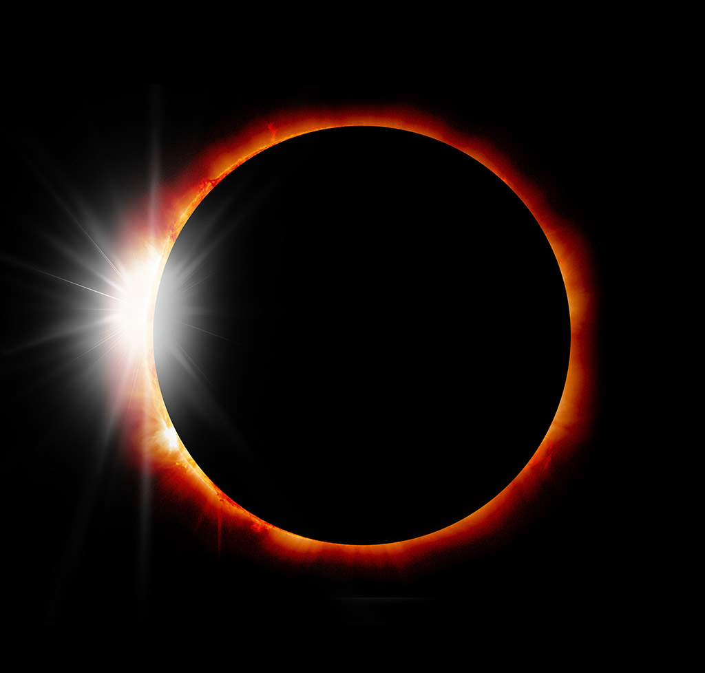 Solar Eclipse 'Elements of this image furnished by NASA '