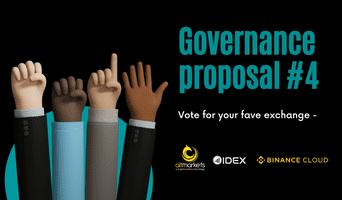 Vote for the next governance proposal: Altmarkets.io, IDEX & Binance Cloud