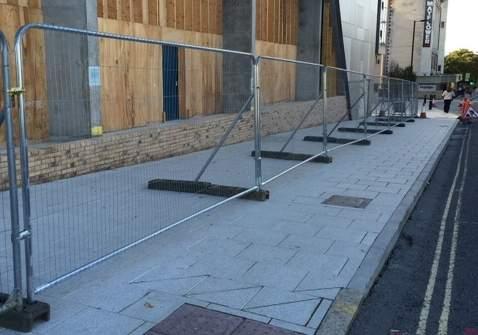 Temporary fencing stabiliser