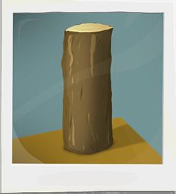A beautiful hand-drawn log